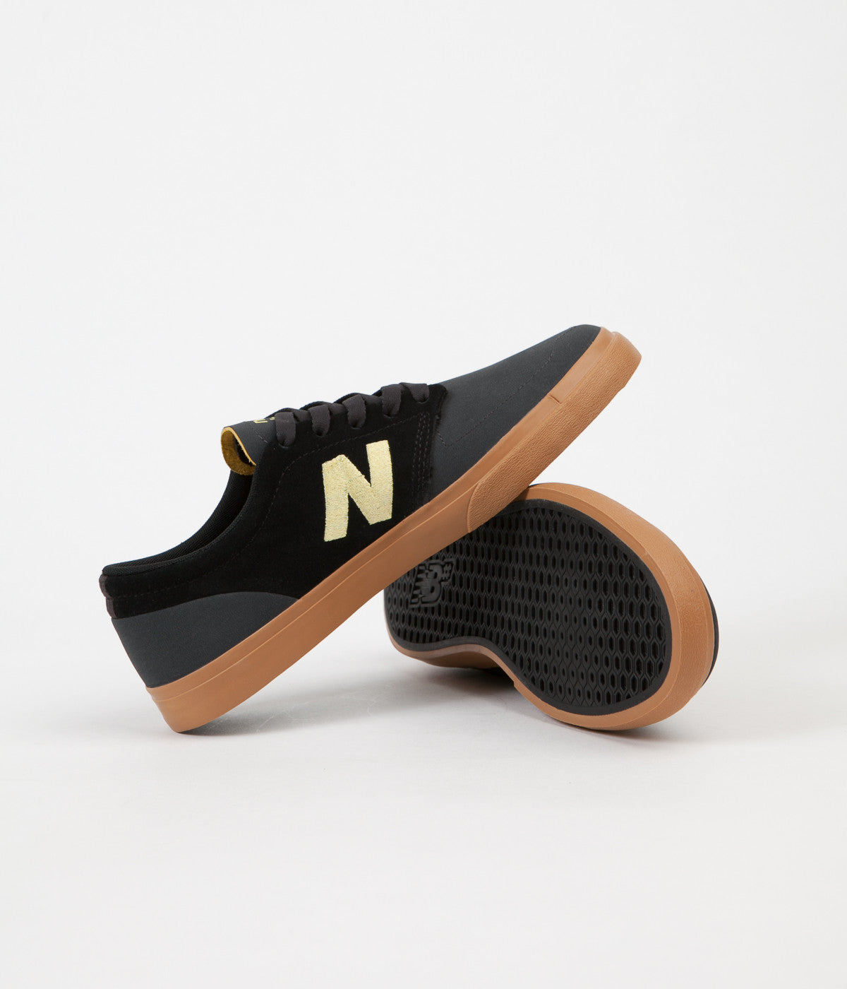 New Balance Numeric 345 Shoes - Black / Yellow