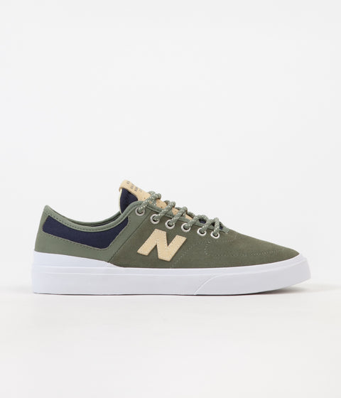 New Balance Numeric 379 Shoes - Olive / Yellow - Marius Syvanen