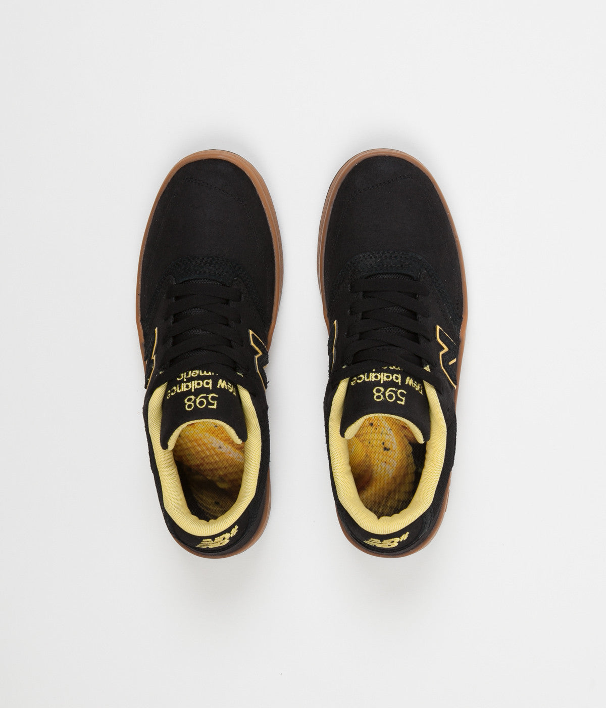 New Balance Numeric 598 Shoes - Black / Gum