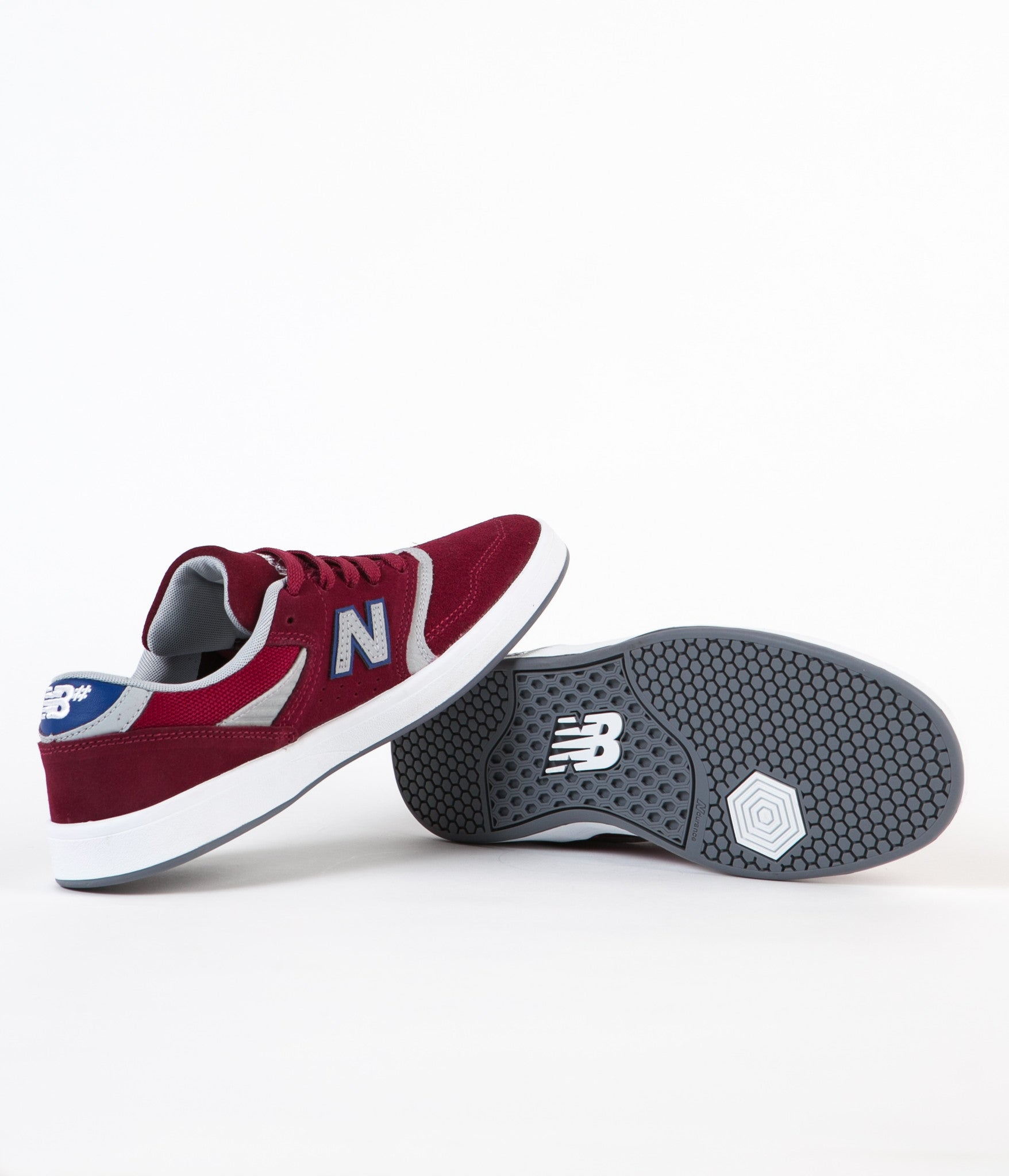 New Balance Numeric 598 Shoes - Red / Grey