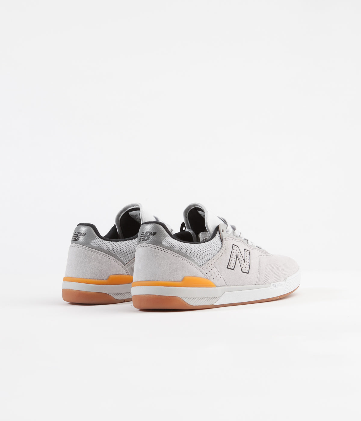 New Balance Numeric 913 Shoes - Silver / Orange