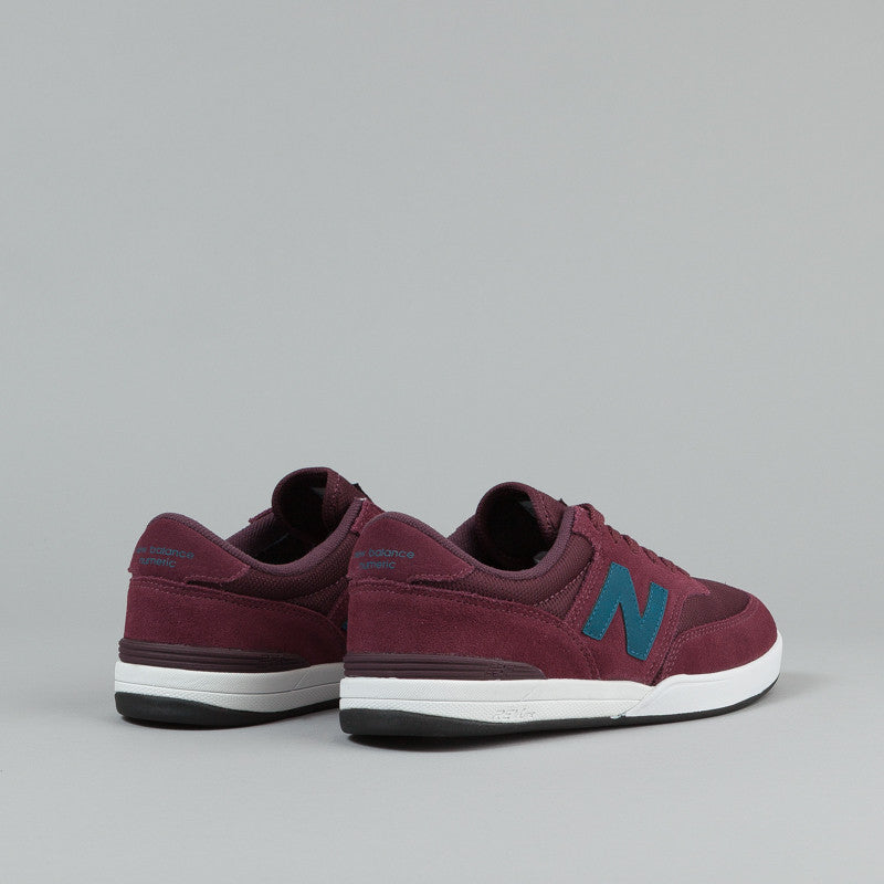 New Balance Numeric Allston 617 Shoes - Port Red / Teal Blue