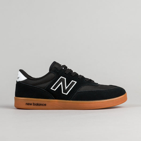 New Balance Numeric Allston 617 Shoes - Black / Gum / White