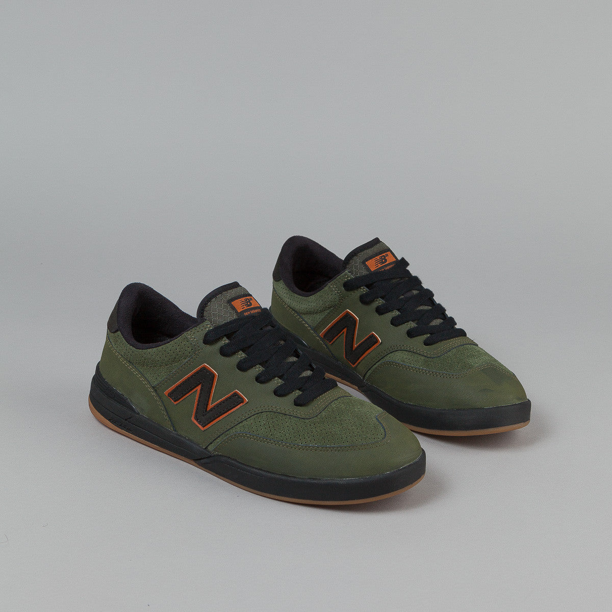 New Balance Numeric Allston 617 Shoes - Olive / Black