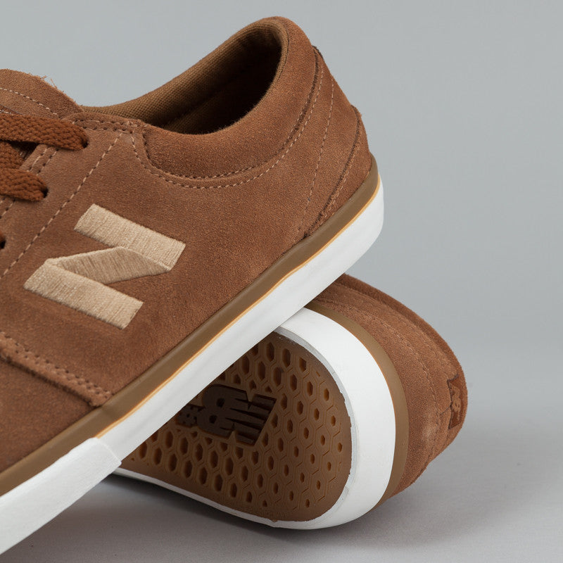 New Balance Numeric Brighton 344 Shoes - Brown Suede