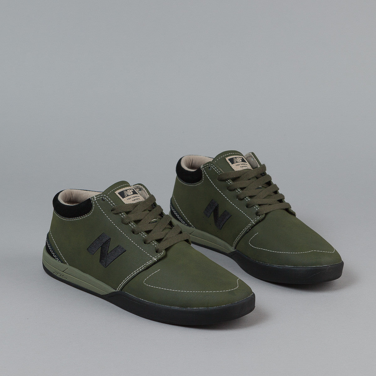 New Balance Numeric Brighton Hi 347 Shoes - Olive