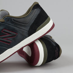 New Balance Numeric Logan 637 Shoes - Black / Red
