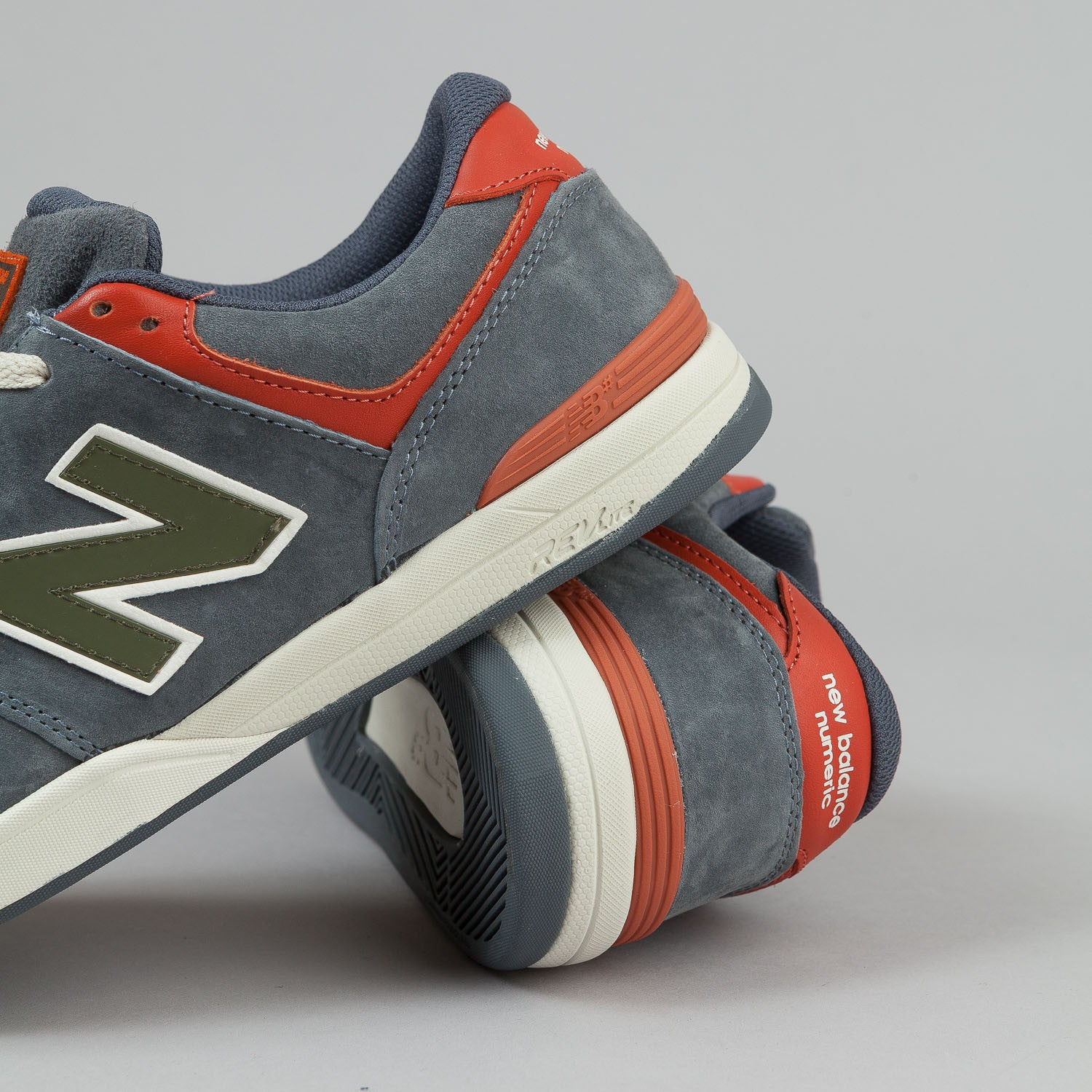 New Balance Numeric Logan S 636 Shoes Grey Orange