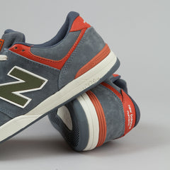 New Balance Numeric Logan S 636 Shoes - Grey / Orange