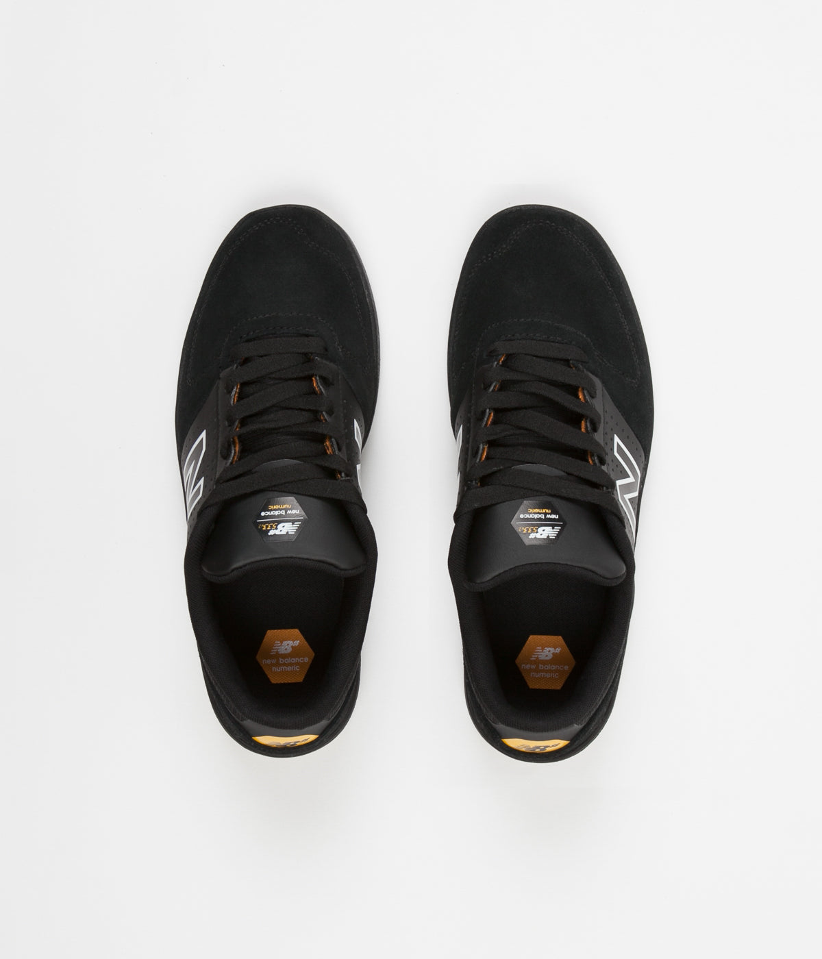 New Balance Numeric PJ Ladd 533 Shoes - Black / Gold Rush