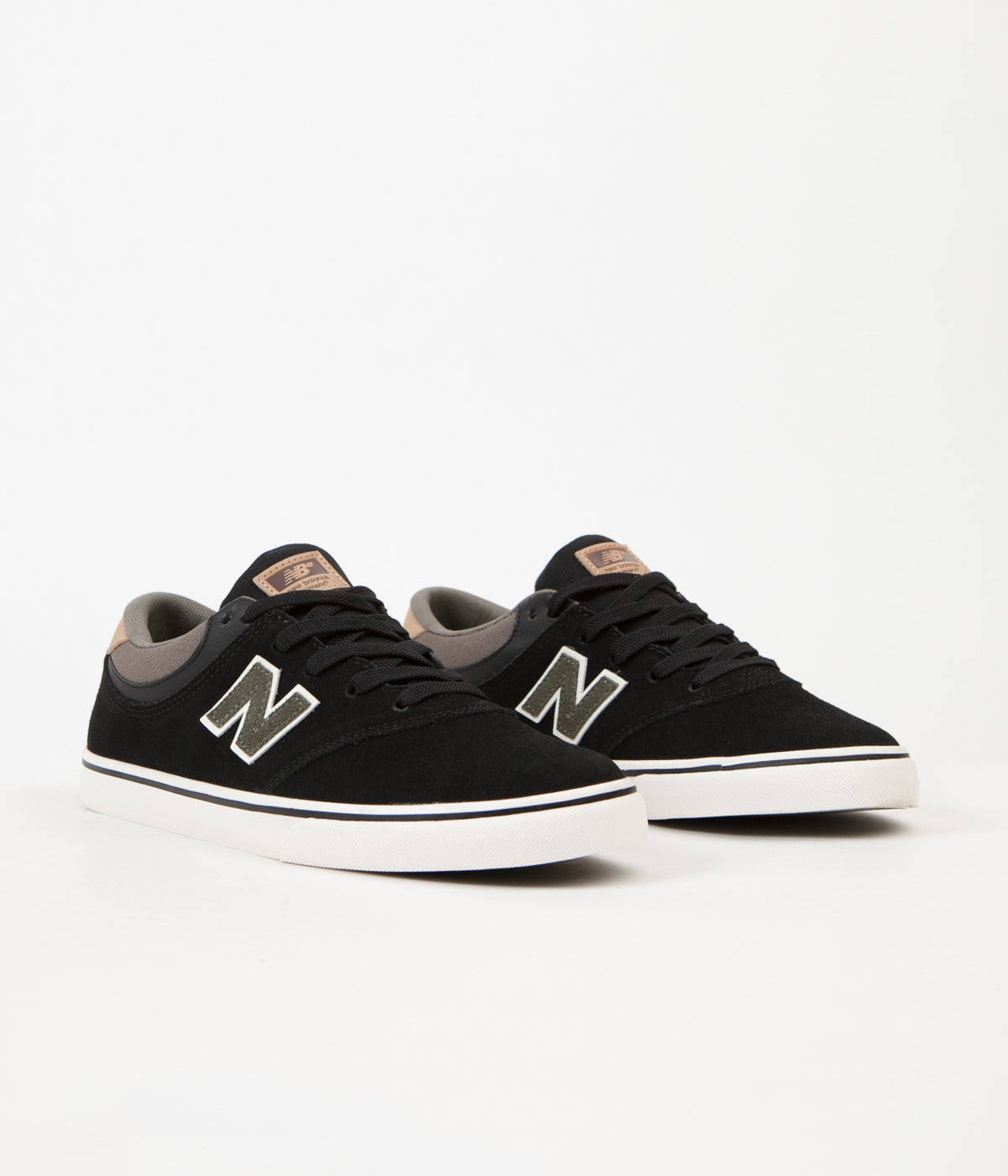 New Balance Numeric Quincy 254 Shoes - Black / Military Foliage Green