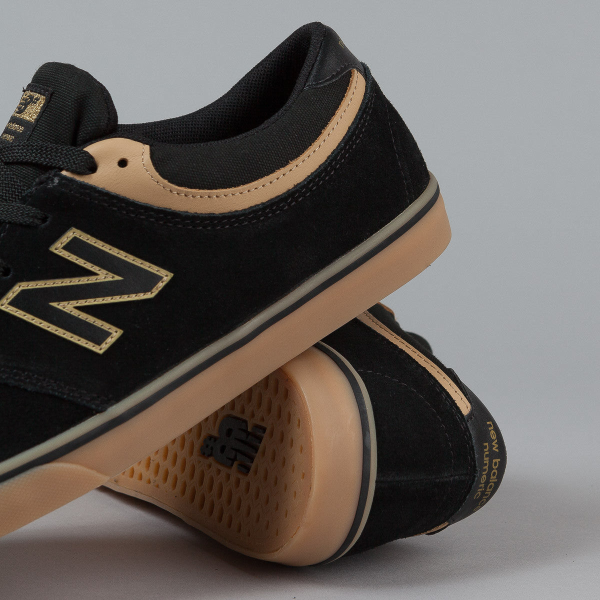 New Balance Numeric Quincy 254 Shoes - Black / Tan