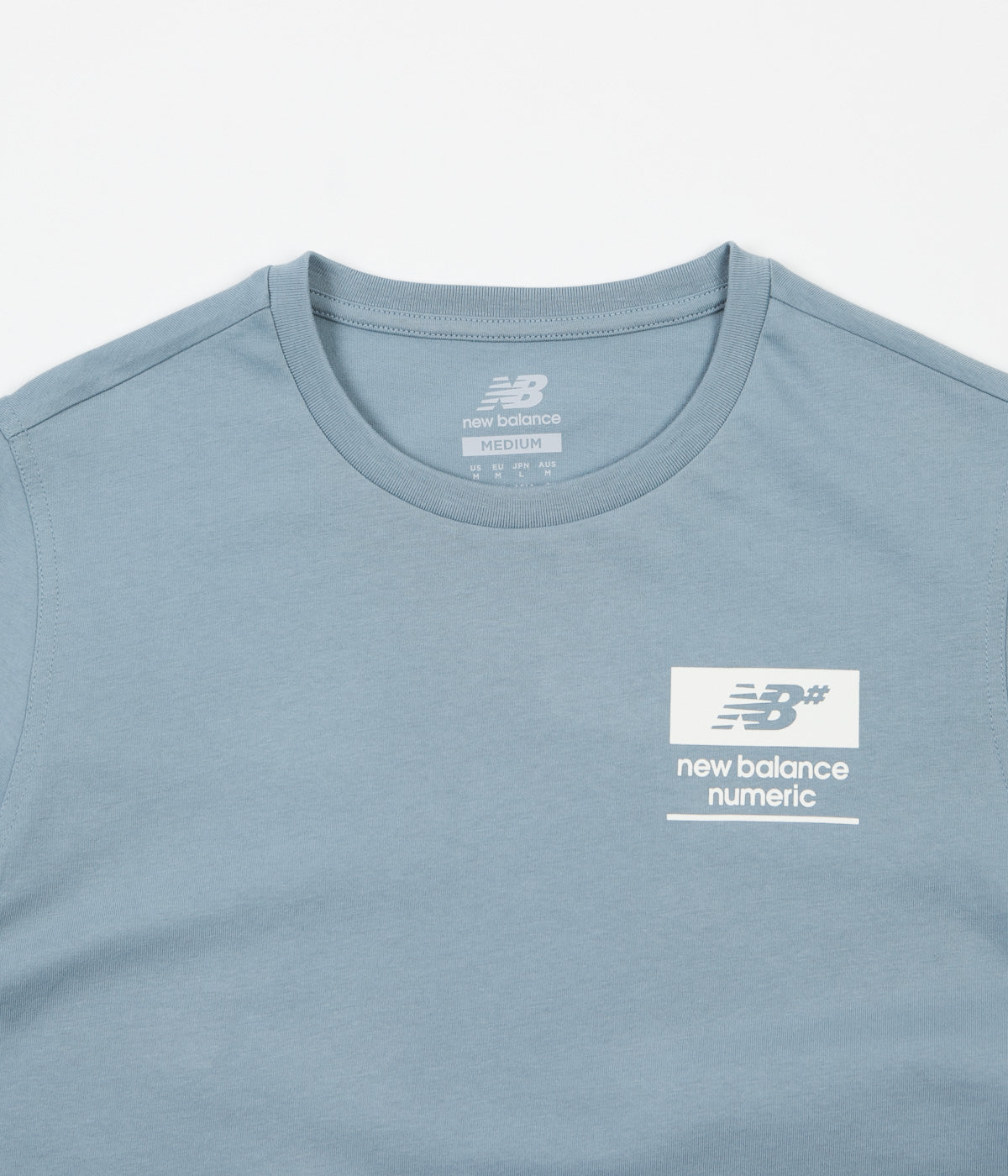 New Balance Numeric Stacked T-Shirt - Cyclone