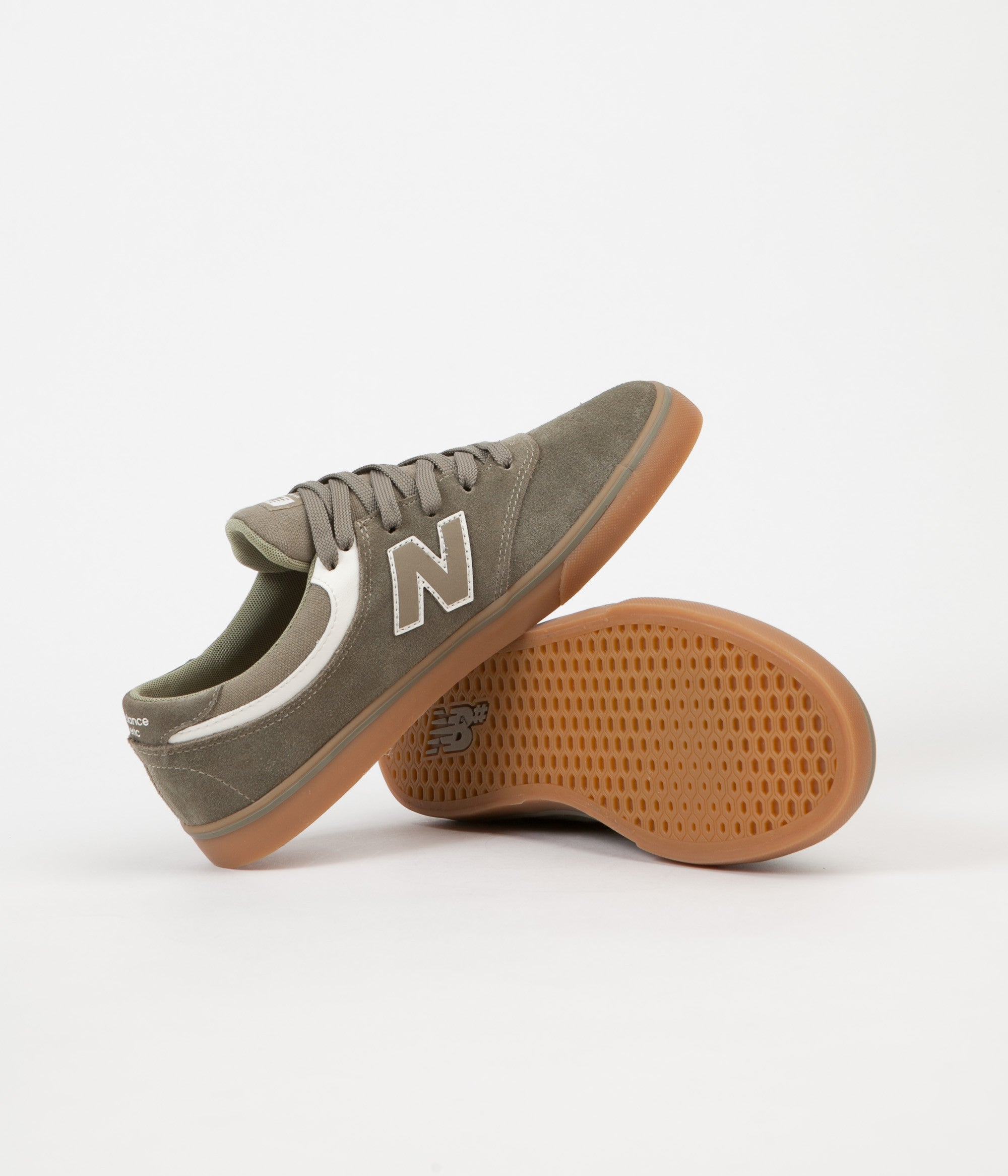 new balance quincy 254. new balance quincy 254 shoes - olive / gum