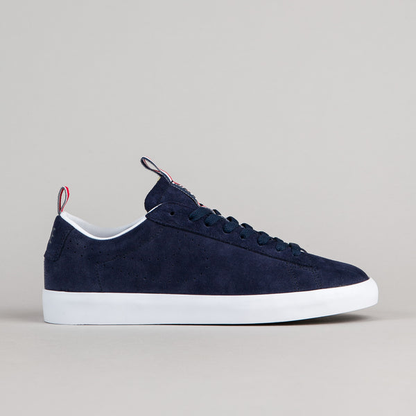 Nike SB x 917 Blazer Low GT Premium Shoes - Obsidian / Obsidian - White - Action Red