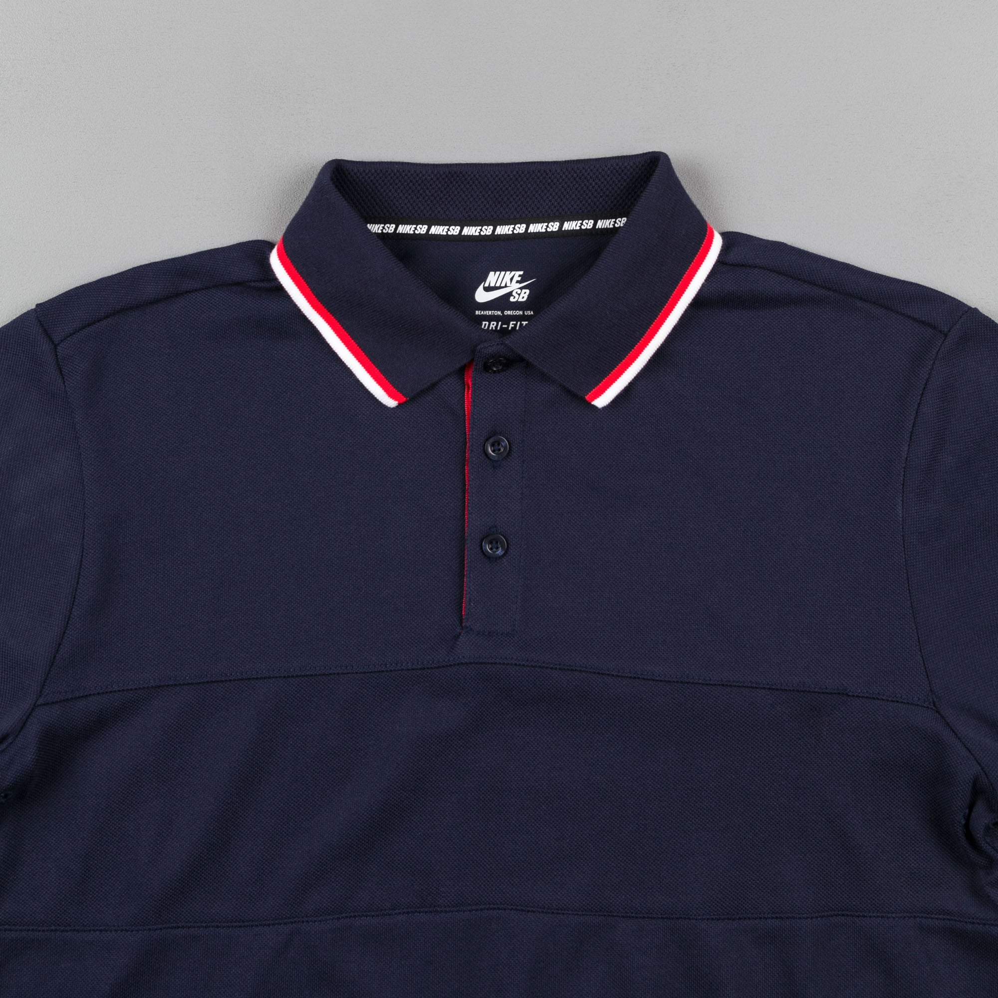 Nike SB x 917 Long Sleeve Polo Shirt - Obsidian | Flatspot
