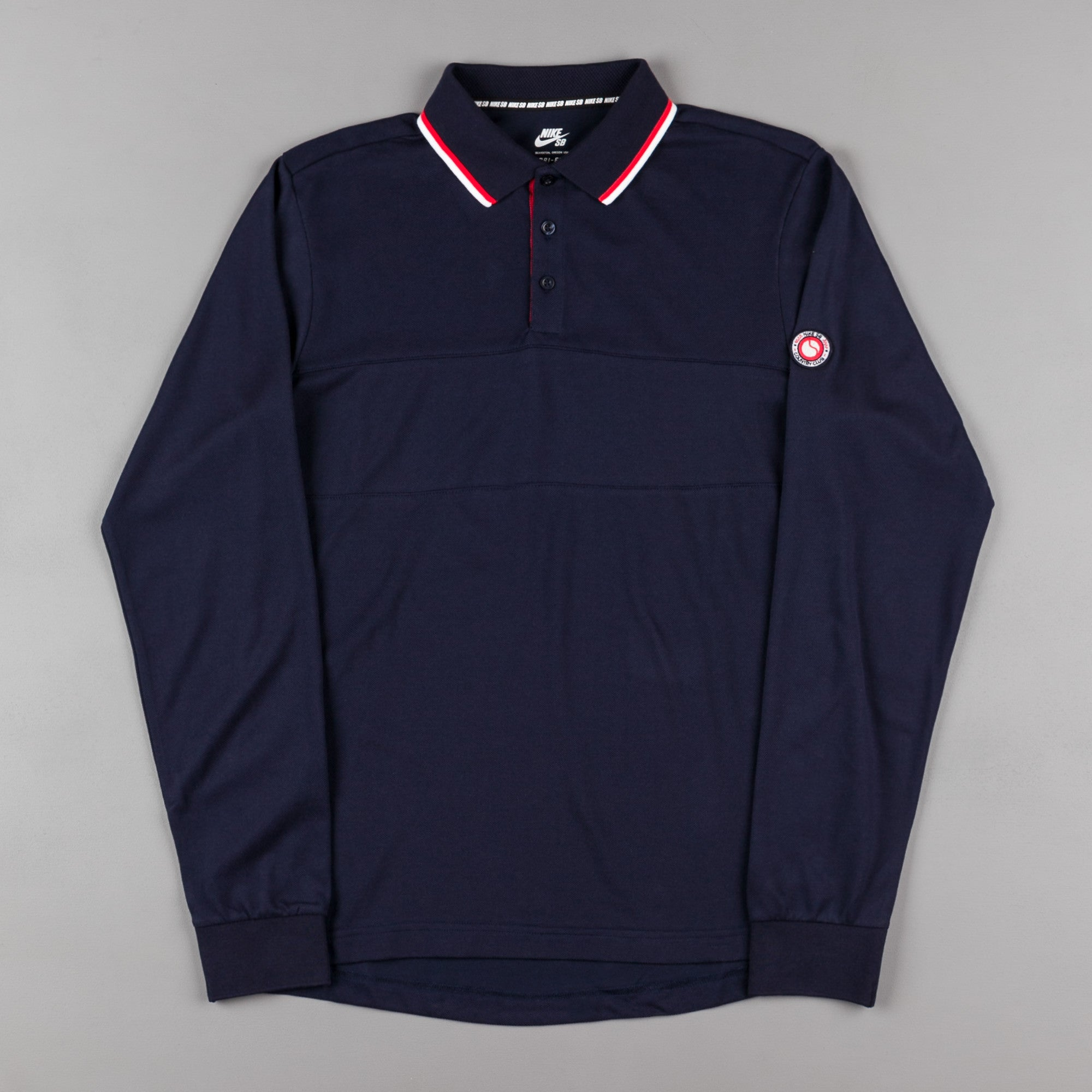 Nike SB x 917 Long Sleeve Polo Shirt - Obsidian