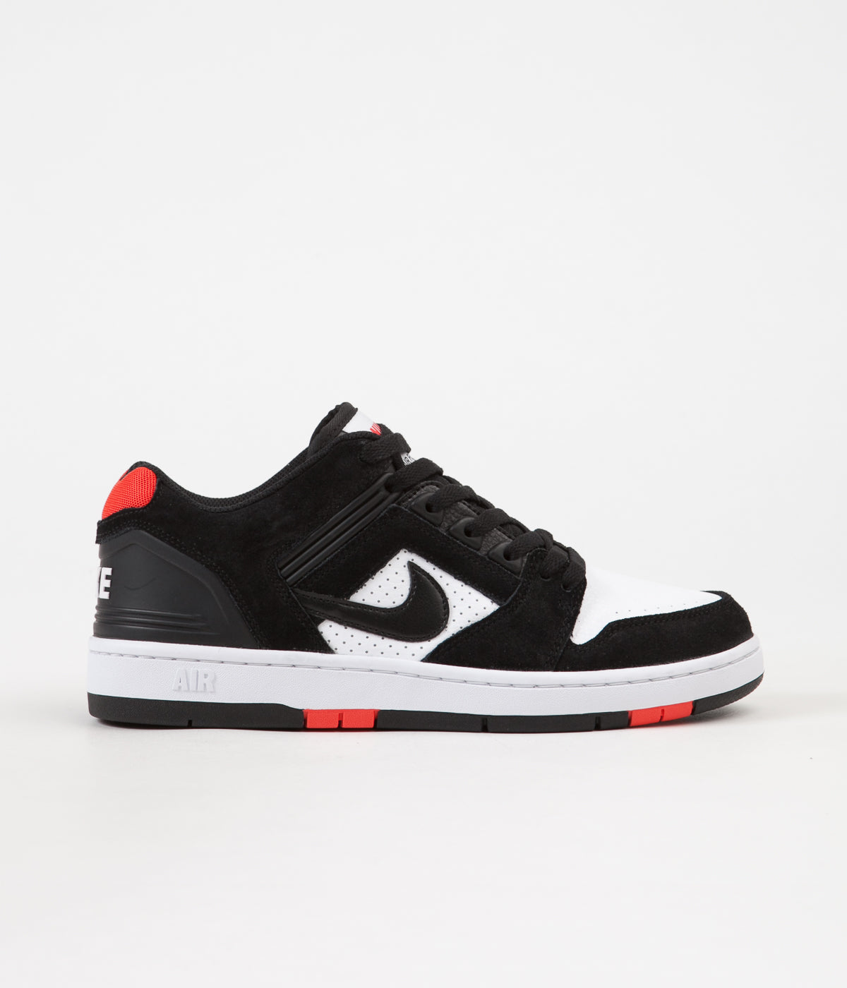 purchase cheap c70b3 6ad89 Nike SB Air Force II Low Shoes - Black  Black - White - Habanero Red