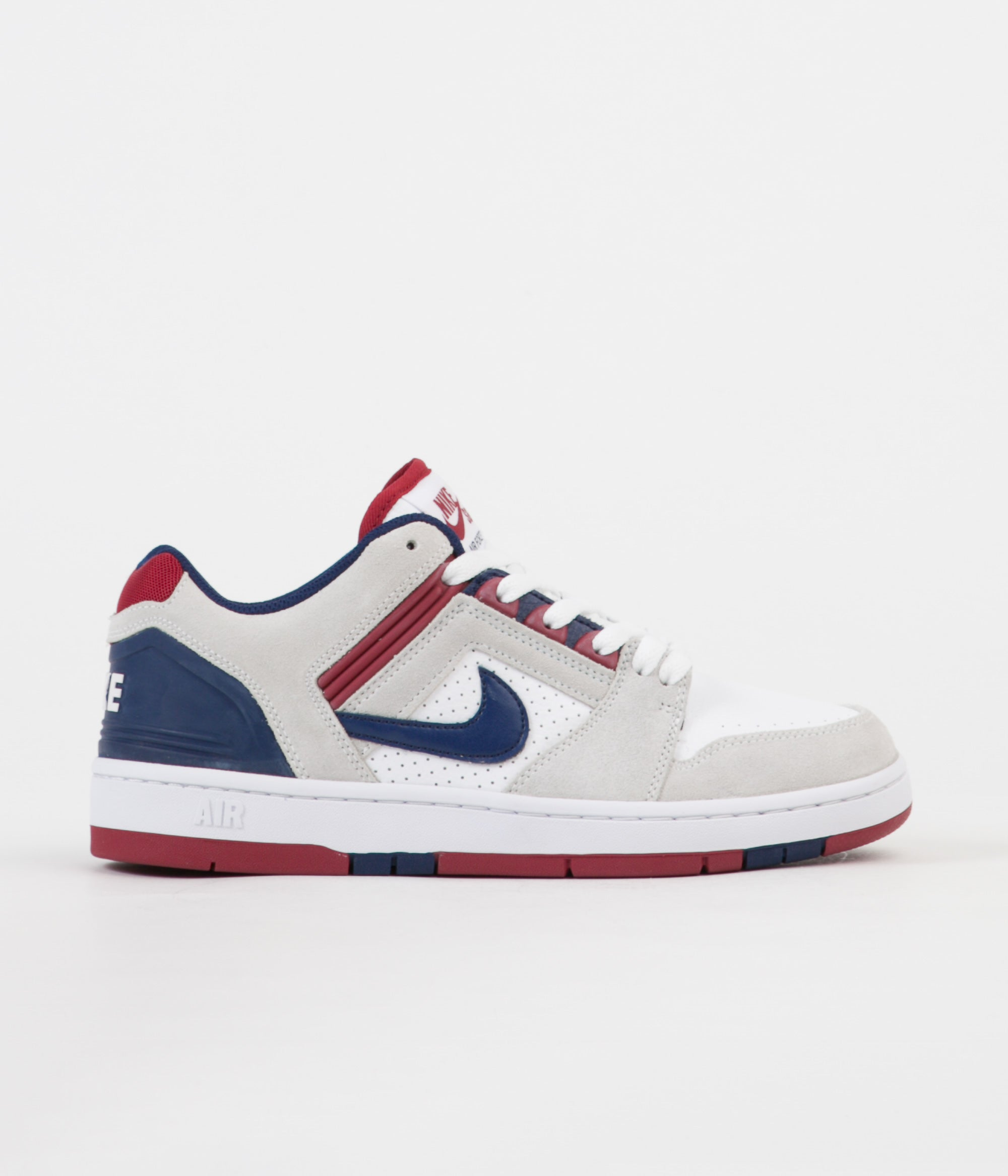 eb39a84995064 Nike SB Air Force II Low Shoes - White   Blue Void - Red Crush - White