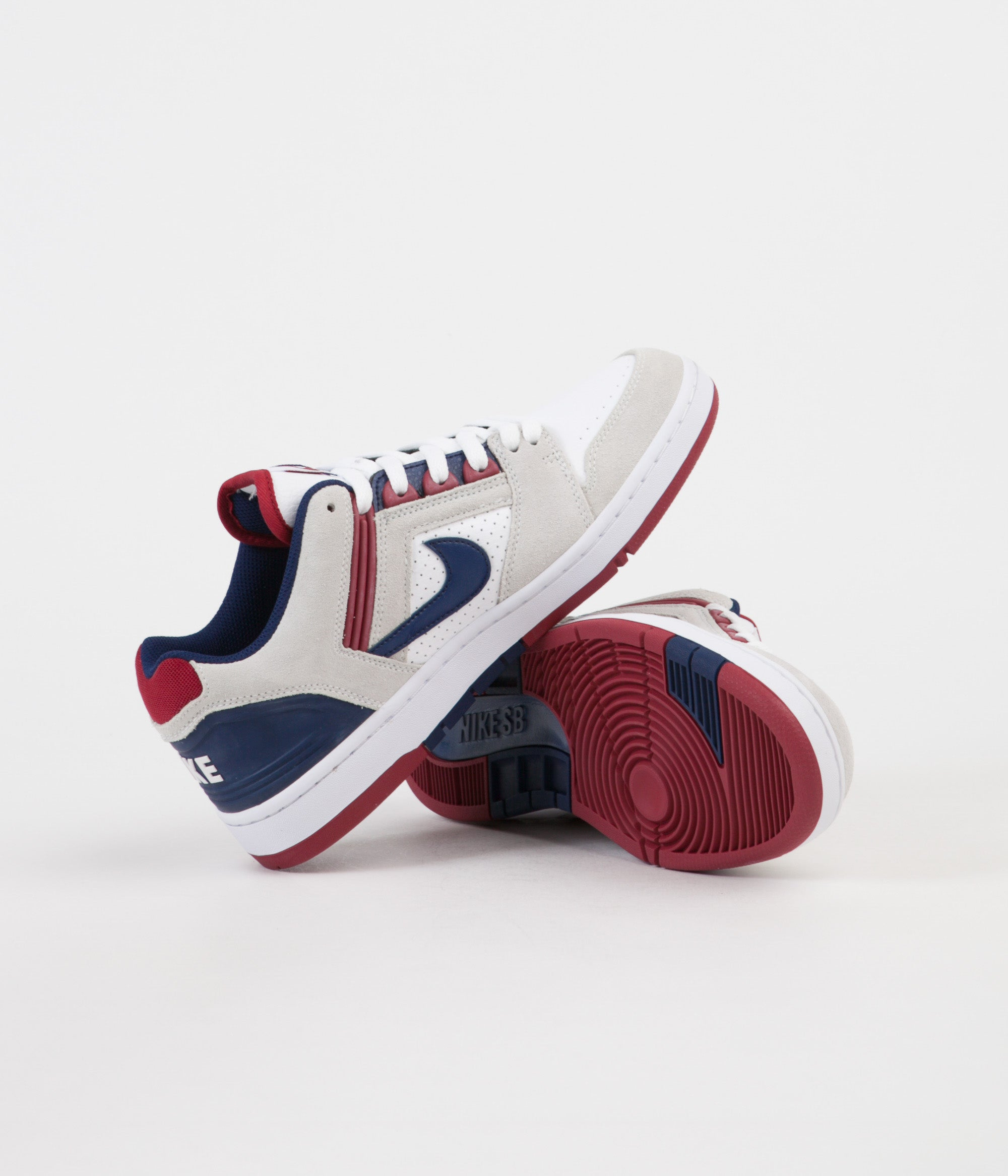Nike SB Air Force II Low Shoes White Blue Void Red