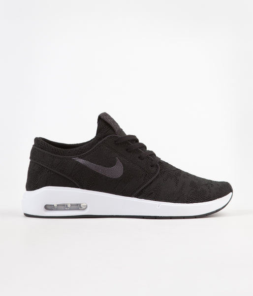 63639571d7375 Nike SB Air Max Janoski 2 Shoes - Black / Anthracite - White | Flatspot