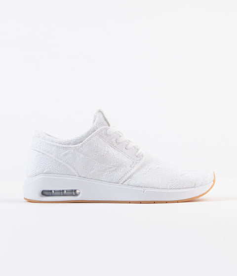Nike SB Air Max Janoski 2 Shoes - White / White - Gum Yellow
