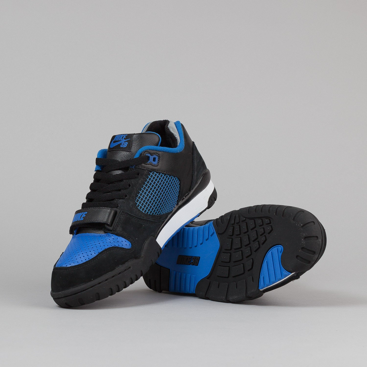 Nike SB Air Trainer 2 Shoes - Black / Royal Blue