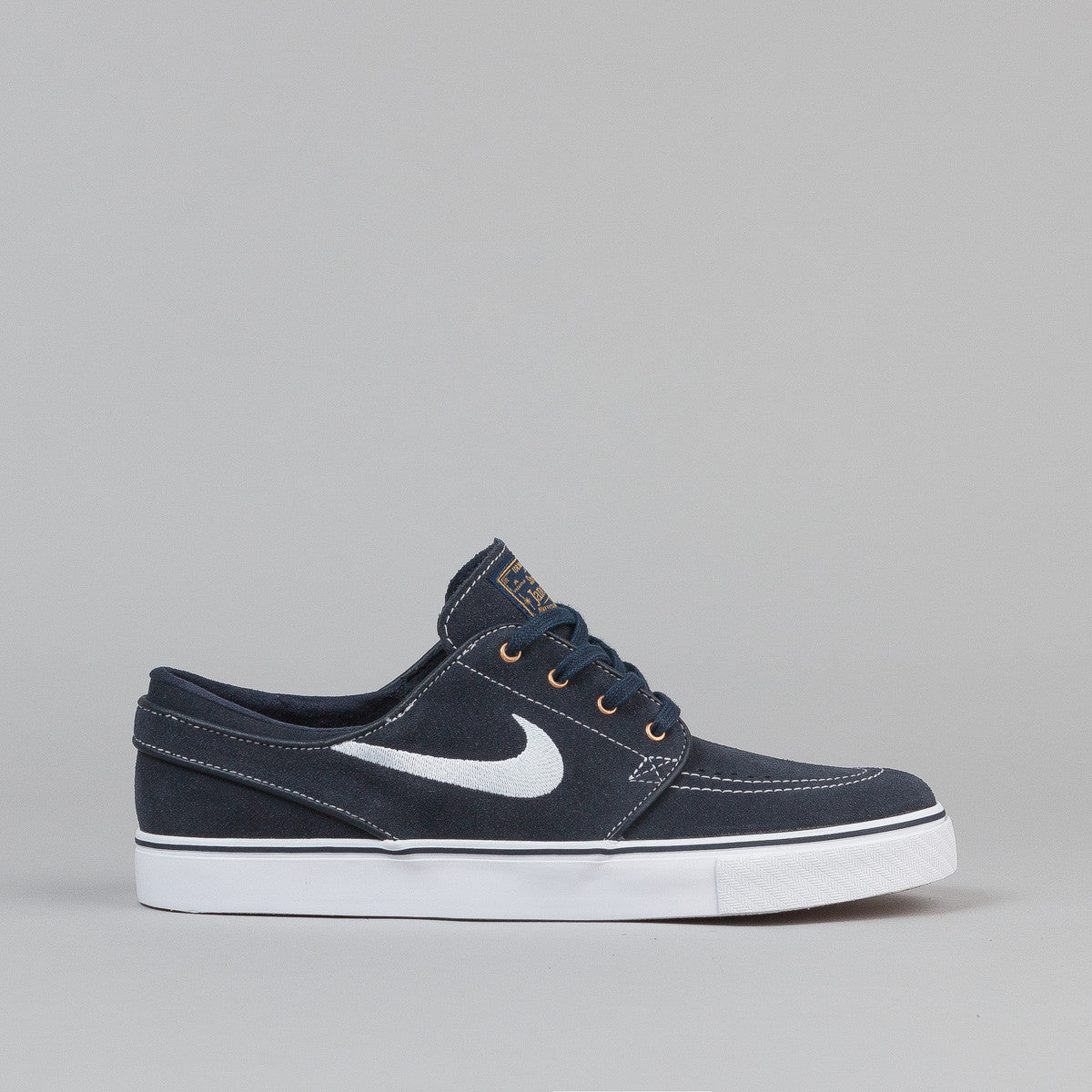 Nike SB Stefan Janoski Shoes - Dark Obsidian/White - White - Gum Light Brown