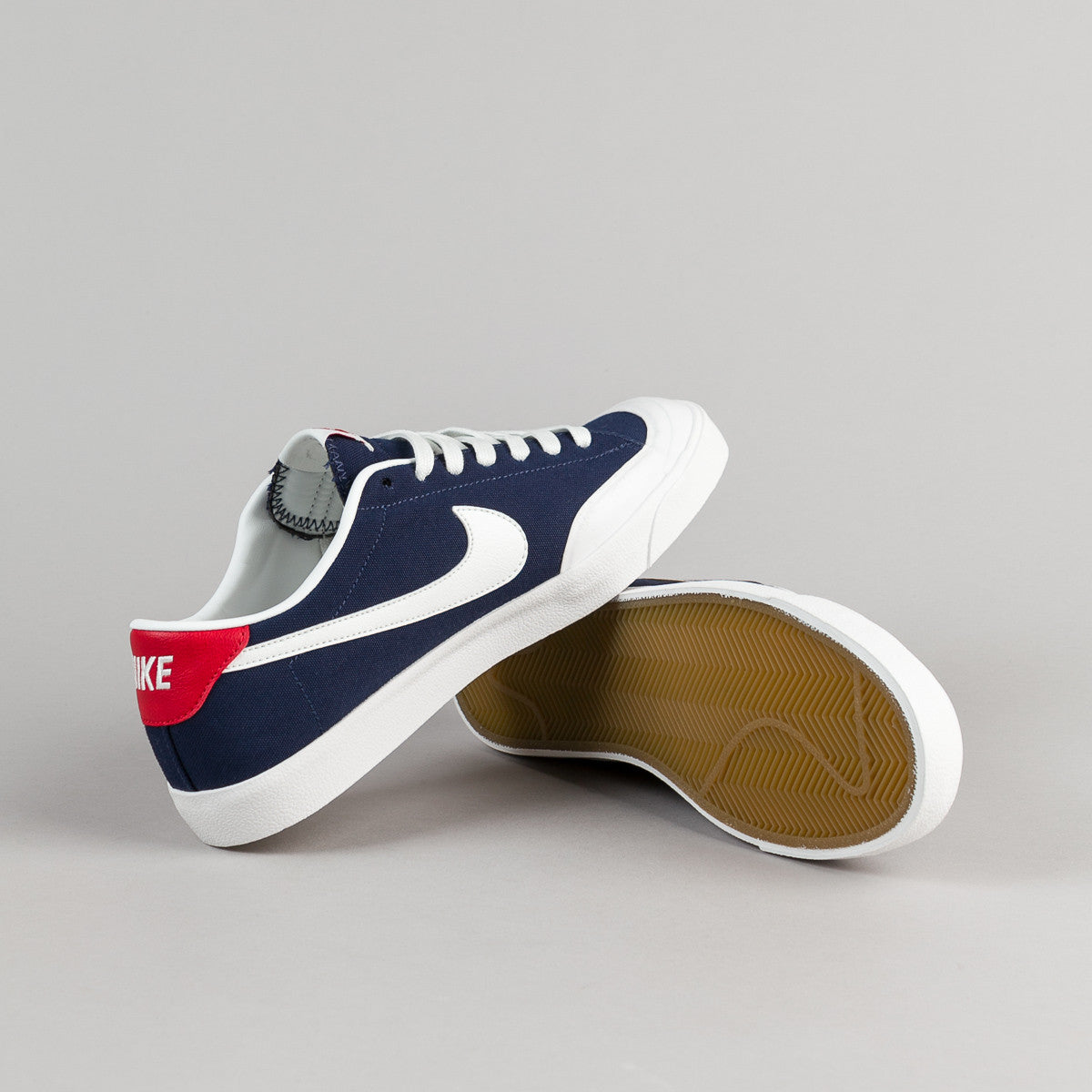 Nike SB All Court CK Shoes - Midnight Navy / Summit White