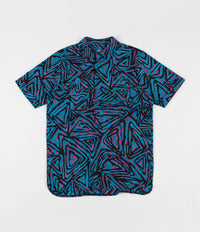 Nike SB All Over Print Woven Polo Shirt - Laser Blue / Watermelon / Black