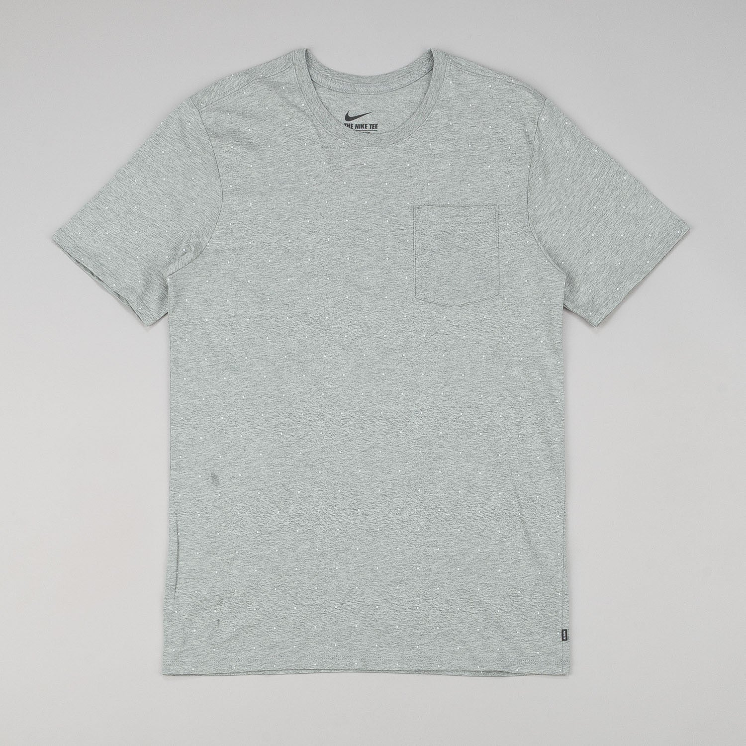 Nike SB AOP Micro Dot Short Sleeve T-Shirt - Heather Grey / White