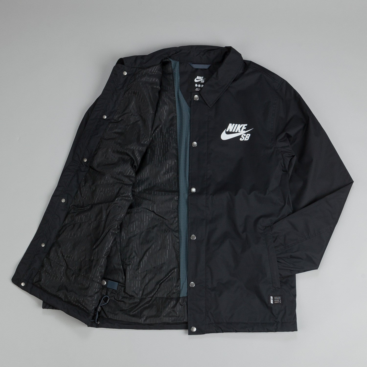 Nike SB Assistant Coaches Jacket Black / Volt (Ivory)