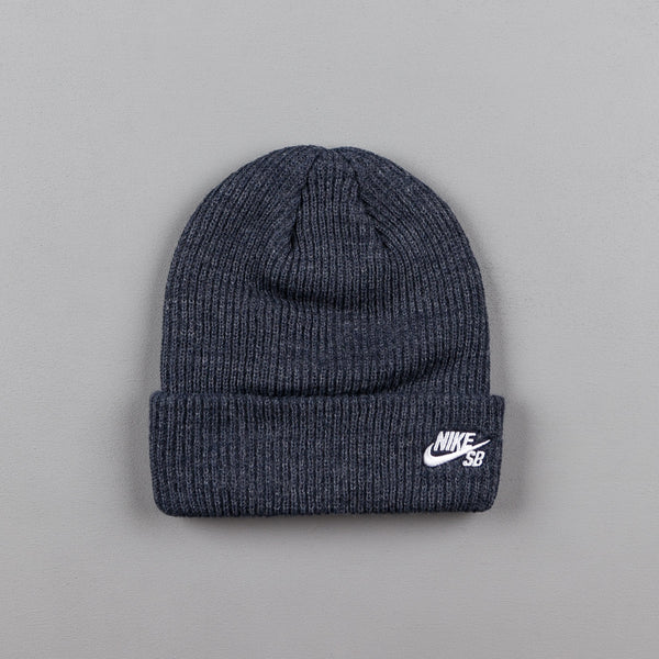 Nike SB Fisherman Beanie - Obsidian Heather / White