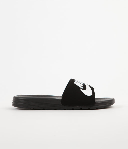 Nike SB Benassi Solarsoft Slides - Black / White