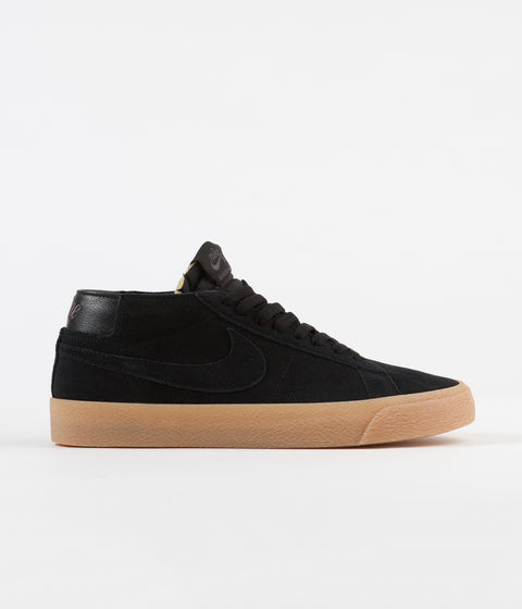 best service 1737b 2c445 Nike SB Blazer Chukka Shoes - Black   Black - Thunder Grey - Gum Light Brown
