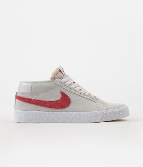 Nike SB Blazer Chukka Shoes - Vast Grey / Crimson