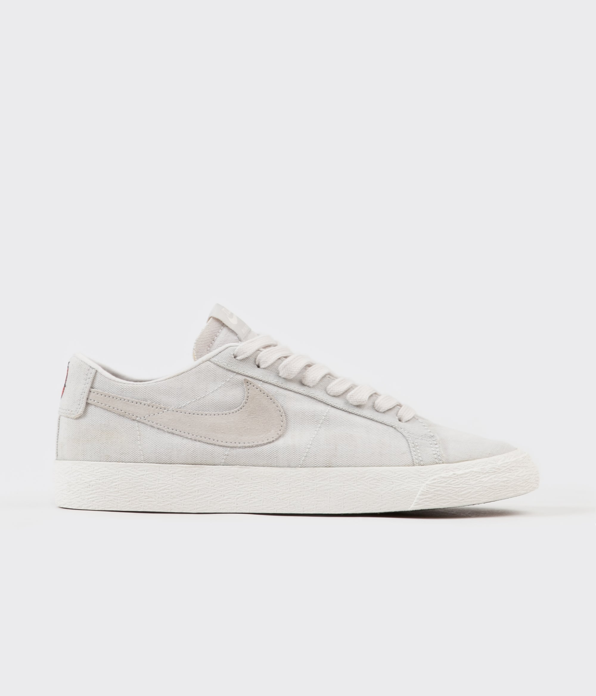 ce41698fa59 Nike SB Blazer Low Canvas Deconstructed Shoes - Phantom   Light Bone - Habanero  Red
