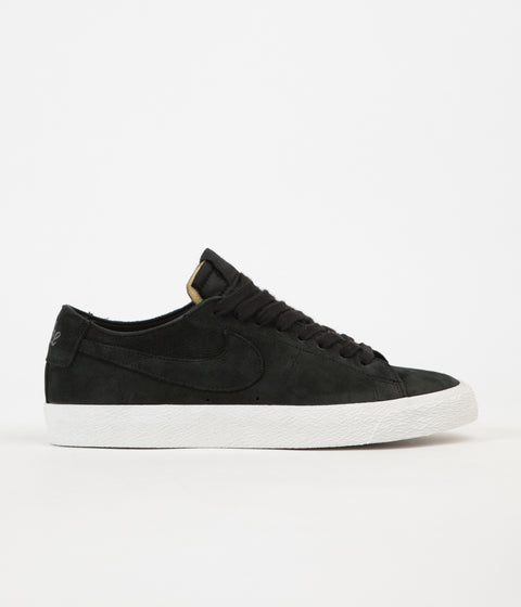 Nike SB Blazer Low Deconstructed Shoes - Black / Black - Anthracite