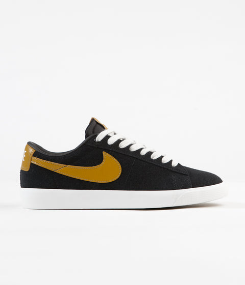 Nike SB Blazer Low GT Shoes - Black / Wheat - Summit White