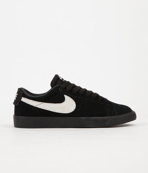 Nike SB Blazer Low GT Shoes - Black / White - Black