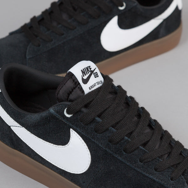 Nike Sb Blazer Low Gt Shoes Black White Metallic