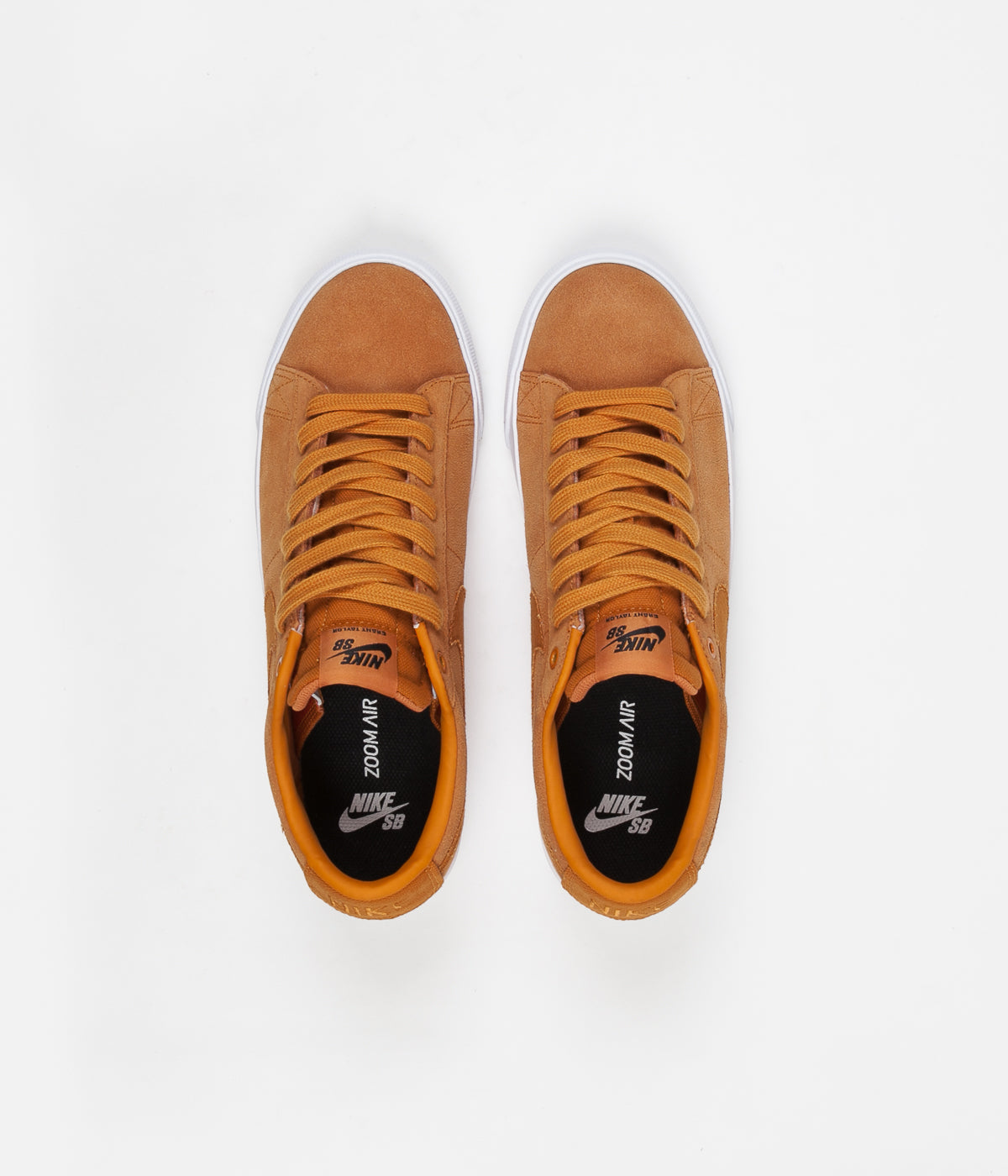Nike SB Blazer Low GT Shoes - Cinder Orange / Cinder Orange - Obsidian