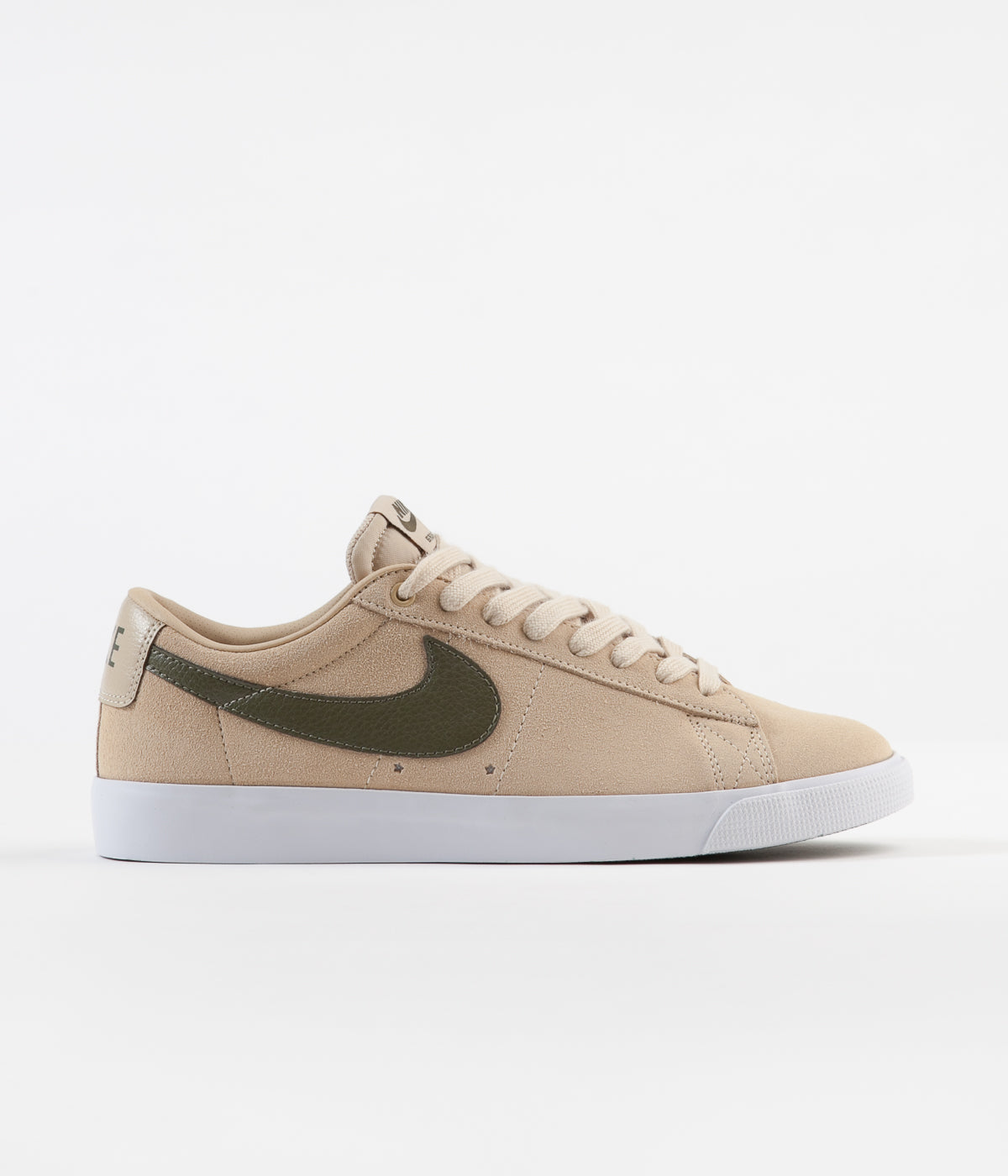 Nike SB Blazer Low GT Shoes - Desert Ore / Medium Olive