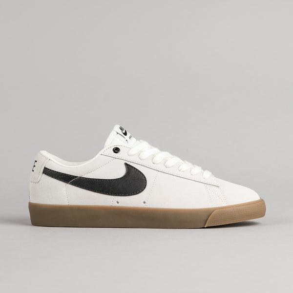 Nike SB Blazer Low GT Shoes - Ivory / Black - Gum Light Brown