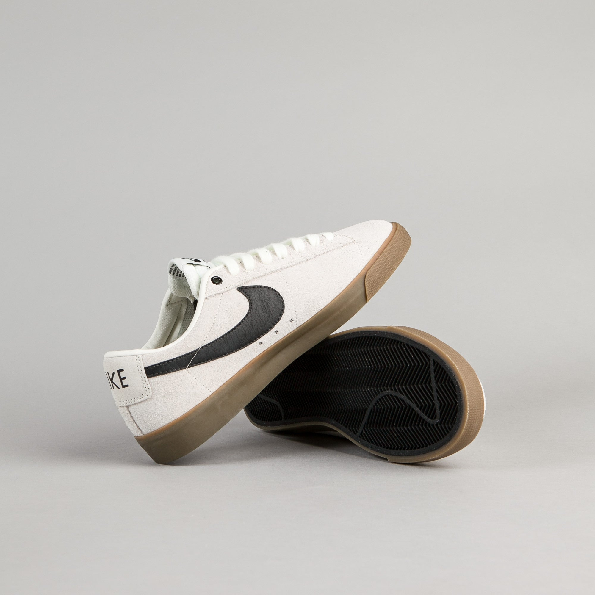 buy popular 03182 57761 ... Nike SB Blazer Low GT Shoes - Ivory  Black - Gum Light Brown ...