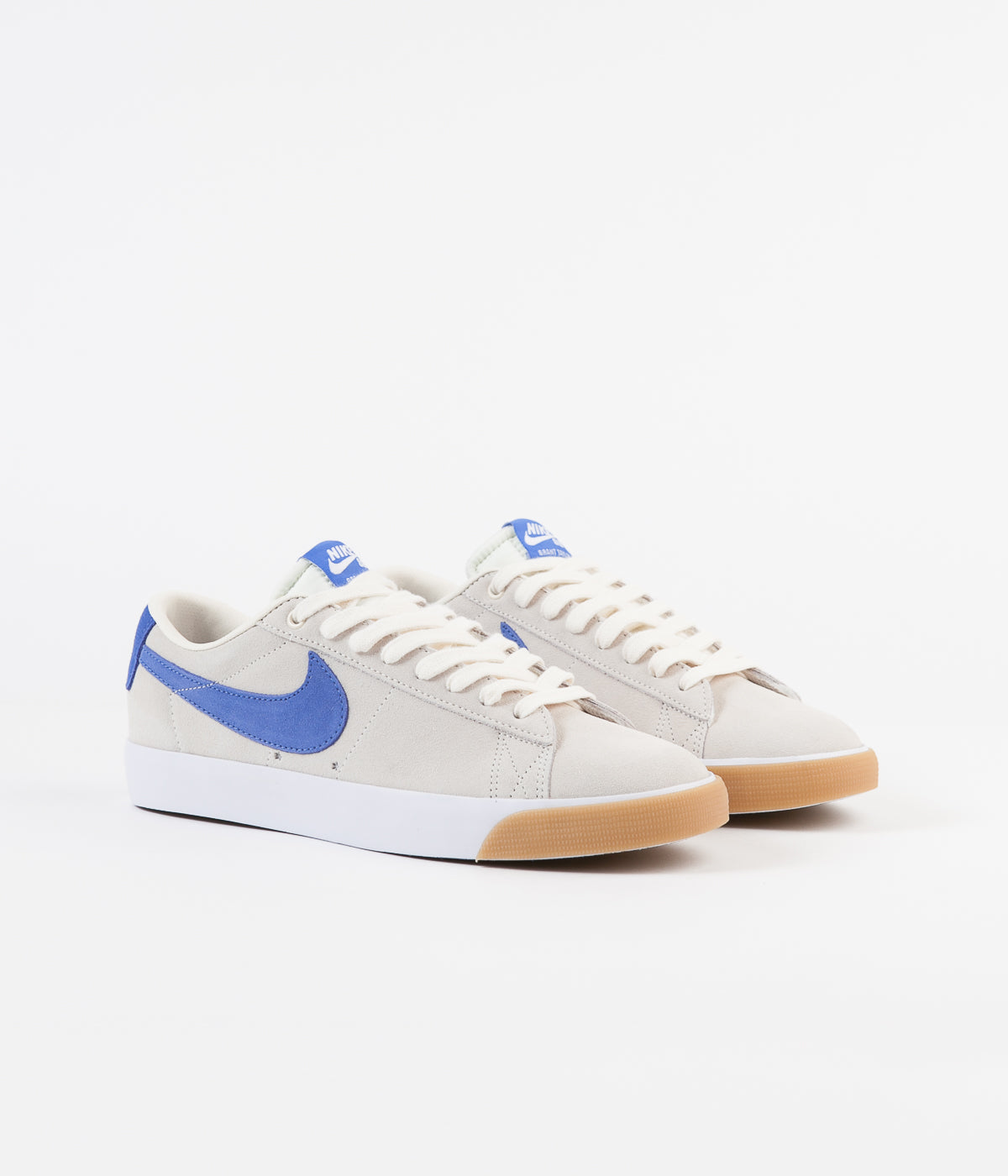 Nike SB Blazer Low GT Shoes - Pale Ivory / Pacific Blue - White