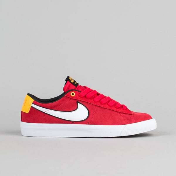 Nike SB Blazer Low GT Shoes - University Red / White - Black