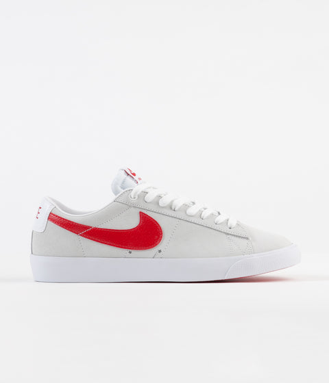 competitive price cc3f3 6558a Nike SB Blazer Low GT Shoes - White   University Red