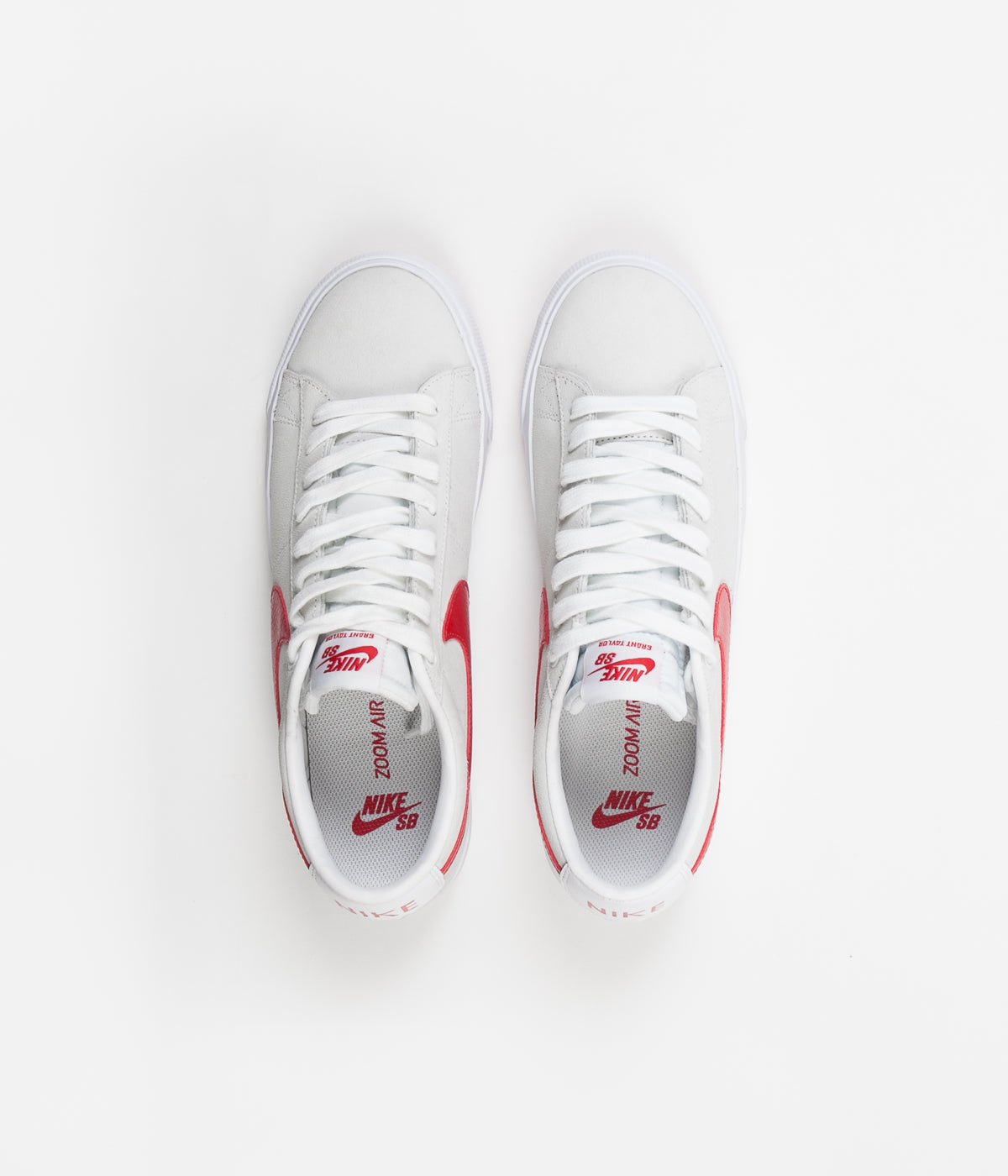 promo code 0803a d7ce3 Nike SB Blazer Low GT Shoes - White   University Red ...