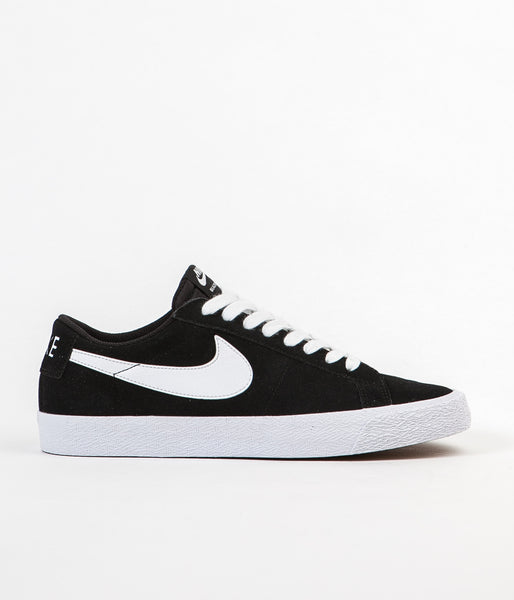 Nike SB Blazer Low Shoes - Black / White - Gum Light Brown